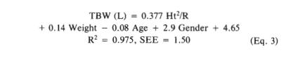 a sample empirical equation