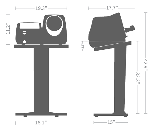 BPBIO 320S Silhouette and Dimensions
